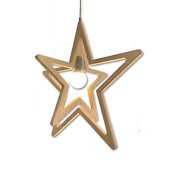Wood Binary Star Lighting