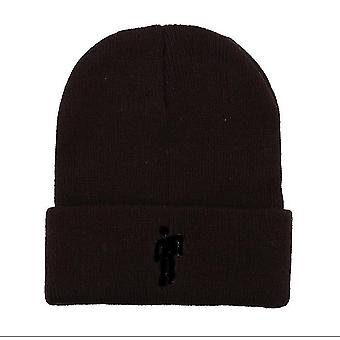 تسمية سوداء بنية مناسبة للقبعات المحبوكة الخريف والشتاء، وقبعات الهيب هوب، والقبعات الصوفية، والرجال الأوروبيين والأمريكيين az4275
