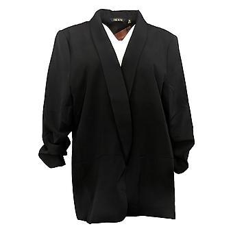 IMAN Global Chic Women's Everyday Lined Blazer Black 740717