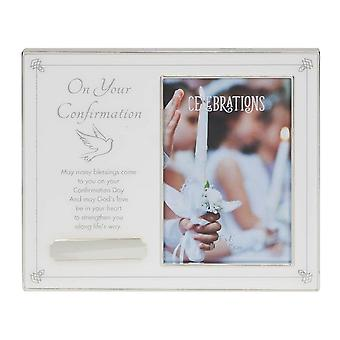Impressions By Juliana On Your Confirmation With Verse & Engraving Plate 4 X 6 Photo Frame Cg1664con