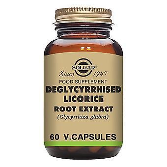 Extrait de racine de réglisse déglycyrrhisée Solgar (60 capsules)