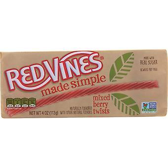 Red Vines Licorice Mxd Bry Twist, Case of 9 X 4 Oz