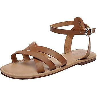 Aukusor Women's Wide Width Summer Flat Sandals Ankle Strap Flexible Summer Shoes.