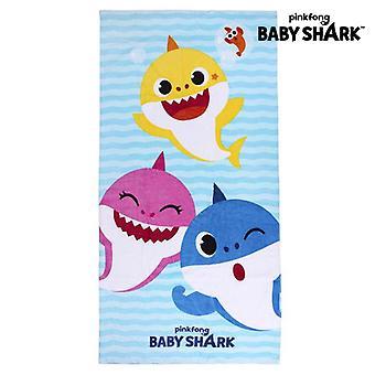 Beach Towel Baby Shark Blue (70 x 140 cm)