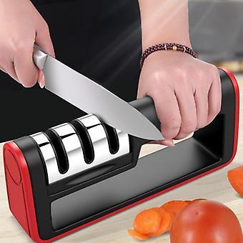 Sharp-edged Three-stage Fast Sharpening Stone Kitchen Sharpener Tool