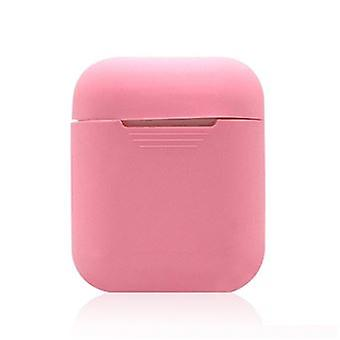 Soft Pink Shockproof Silicone Case For Your Apple Airpods