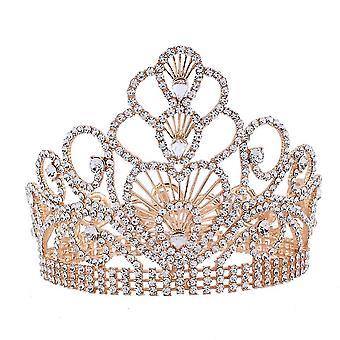 راينستون العروس تاج الزفاف تيارا مرحلة الأداء لاول مرة كريستال الملكة الأميرة ديادم