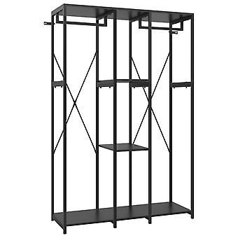 vidaXL Armario Negro 110x40x167 cm Metal y Aglomerado