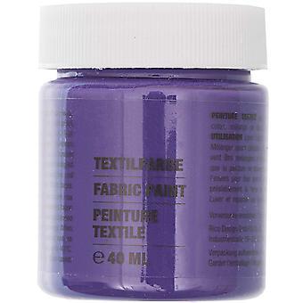 Violet Purple Fabric Paint for Light Fabrics - 40ml