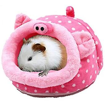 Chinchilla Hedgehog Guinea Bed Accessories Cage Toys Small Pet House(Pig)