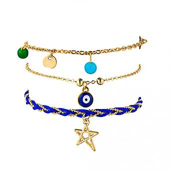 Personality Bohemian Metal Multilayer Coconut Tree Anklet Ladies Jewelry Gift
