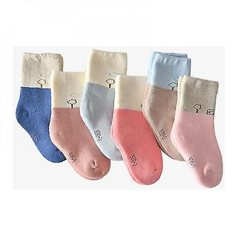 5 Pairs Baby Non Slip Winter Baby Boys Terry Socks(L)