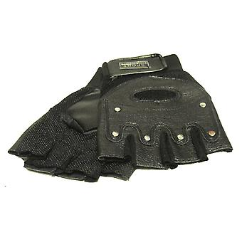 Läderhandskar - runda nitar