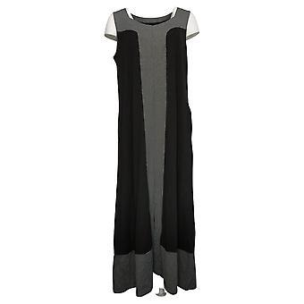 Cuddl Duds Dress Flexwear Sweetheart Neck Maxi Dress Black A373766