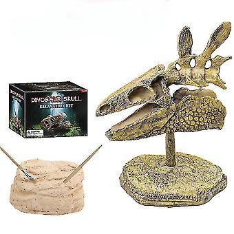 스테고사우루스 두개골 발굴 발굴 과학 키트 어린이 고고학 생물학 파티 장난감