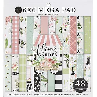 """Carta Bella Kaksipuolinen Mega Paperityyny 6""""X6"""" 48/Pkg - Kukka puutarha"""