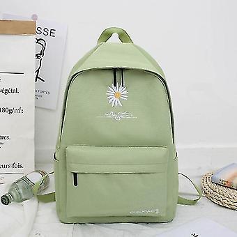 Ny Solid Backpack Girl Skole tasker til Teenage Skole Taske Nylon Daisy Udskrivning Bag Black