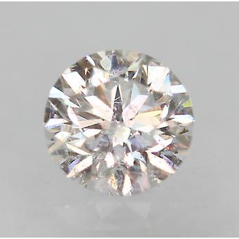 معتمد 0.32 قيراط D VS2 جولة رائعة تعزيز الماس فضفاضة الطبيعية 4.36mm