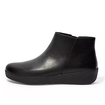 FitFlop Sumi Leather Ankle Boot In Black