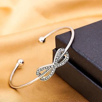 Hollow Manșetă Bangles, Bratari, reglabile, bijuterii deschise (argint)