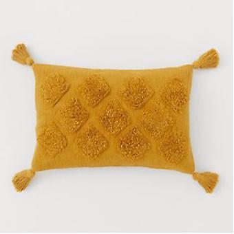 "Spura Home Kalina Mustard Contemporary 16""x26"" Pillow Cushion"