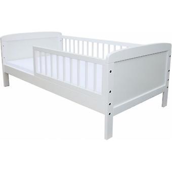 Kinderbett - Weiß - 160x70cm - inkl. Lattenrost Kinderbett