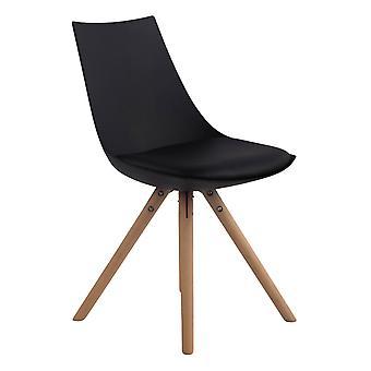 Esszimmerstuhl - Esszimmerstühle - Küchenstuhl - Esszimmerstuhl - Modern - Schwarz - Holz - 47 cm x 53 cm x 81 cm