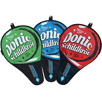 Donic Schildkrot Table Tennis Paddle Bat Cover with Ball Compartment - Polyester