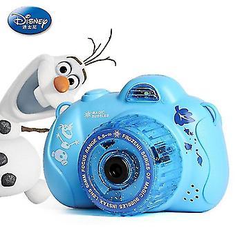 Bubble blowing toys disney frozen princess elsa été caméra automatique bubble maker party bubble machine bleu