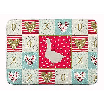 Bath mats rugs carolines treasures ck5325rug roman goose love machine washable memory foam mat