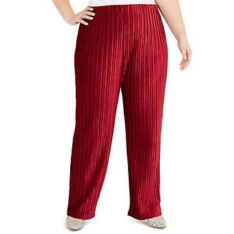 Alfani   Plus veľkosť pull-on Velvet so širokými nohami nohavice