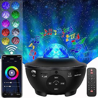 Galaxy-projektorin valo, tähti projektori makuuhuoneeseen, Bluetooth-kaiutin