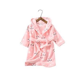 Robe de chambre chaude pour enfants avec une capuche de souris