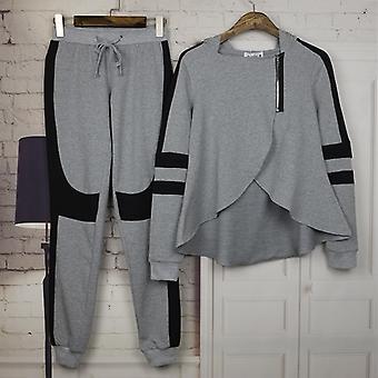 Damen Hoodie Trainingsanzug Zip Top Hose Set Sport Lounge Wear