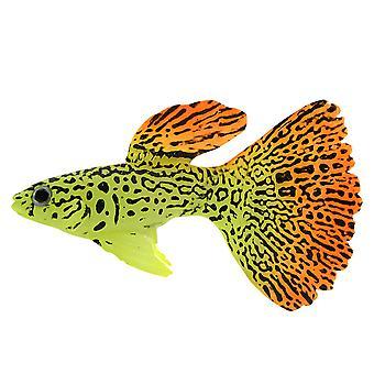 Plástico nadando falso falso peixe de ouro aquário aquário decoração decoro ou presente de nome