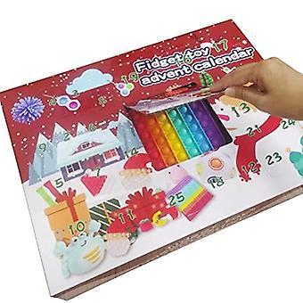 לוח שנה ספירה לאחור של חג המולד 24 ימים צעצועים עצבניים חושיים זולים להגדיר חידוש קישוטים תיבות מתנה לילדים מבוגרים מתח R