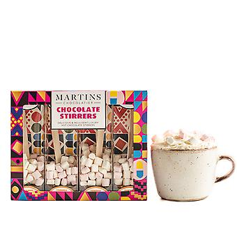 Martin's Chocolatier Hot Chocolate Stirrers (2 Boxes) Turmeric | Hot Chocolate Spoons with Marshmallows | Flavoured Chocolate Drink | Belgian Chocolate Gift Set