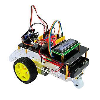Smart Robot Car Kit per Arduino-con Ir Remote, Progetto di programmazione elettronica / stem Educativo / scientifico Codifica robot giocattoli per bambini Adolescenti adulti, 12 +