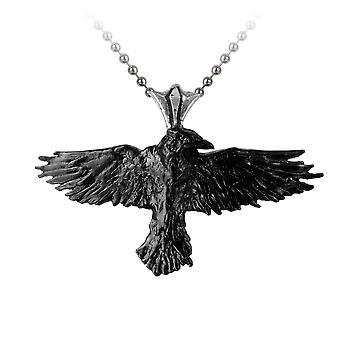 Alchemy Black Raven Pendant