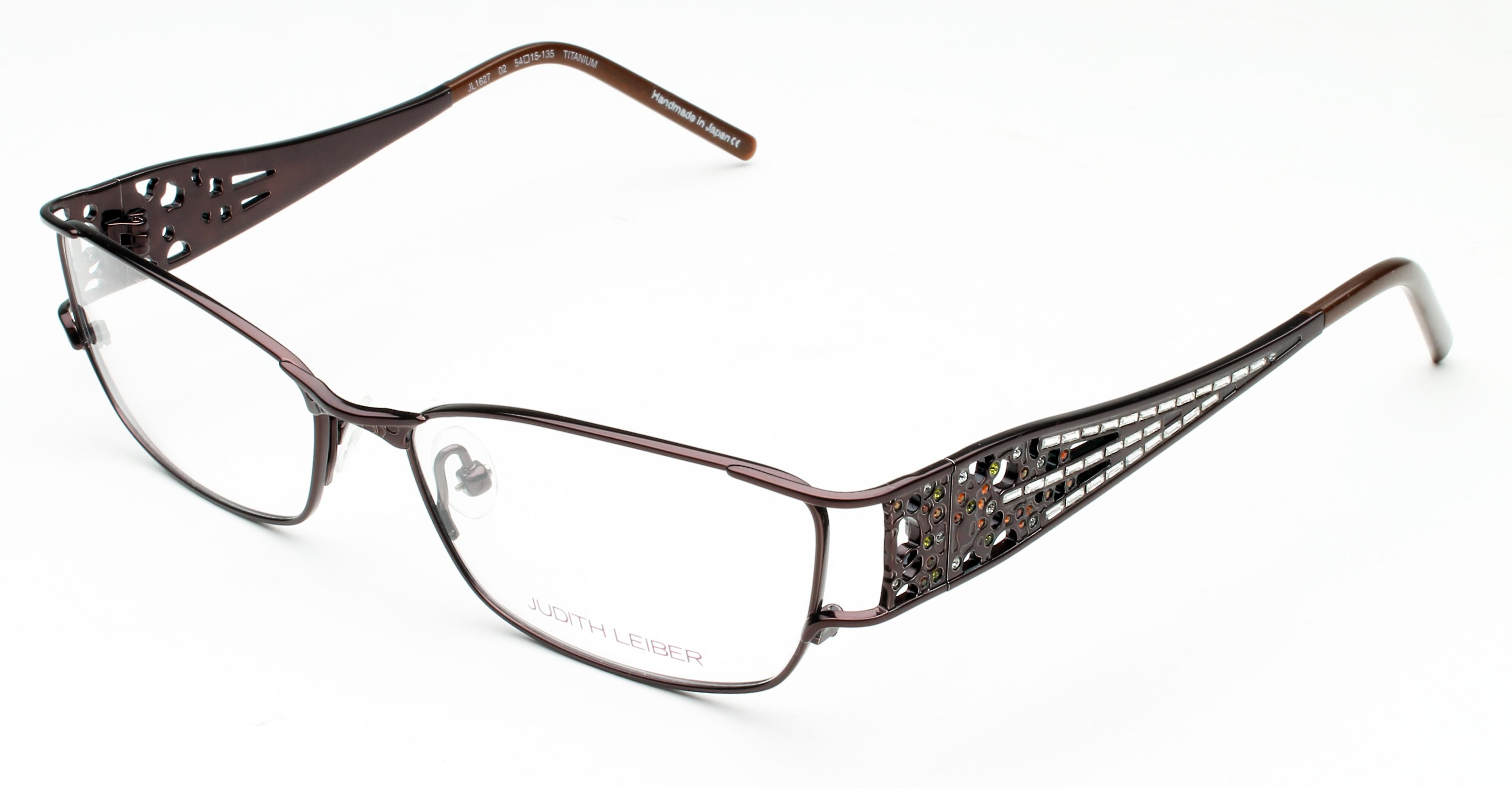 Judith Leiber Women's Micro Pav Eyeglasses Bronze