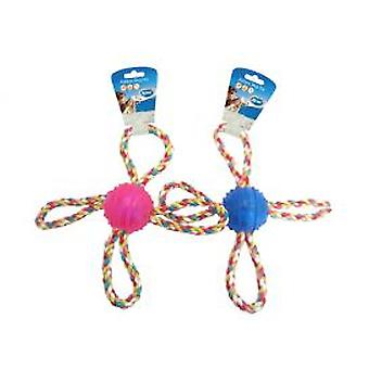 Duvo+ Dog toy rope handles Tpr ball 4 (Dogs , Toys & Sport , Balls)