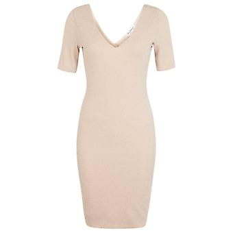 Miss Selfridge Nude brillo Bodycon Vestido