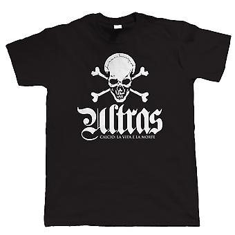 Ultras vida e morte, camisa de futebol Mens Casuals T
