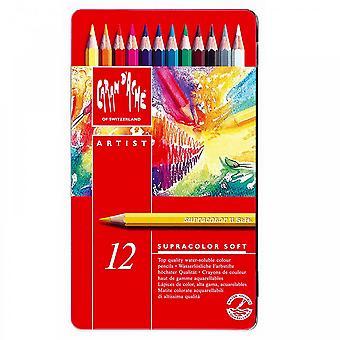 Caran D'Ache Supracolour Water Soluble Pencils 12 Tin