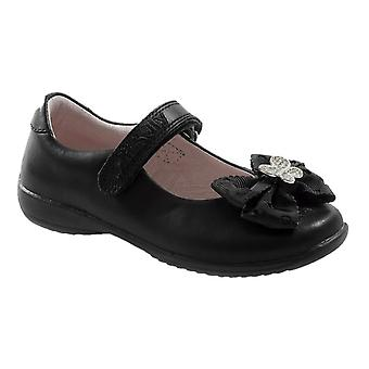 Lelli Kelly Tallulah Girls Hairclip Black Patent School Shoes F Fitting