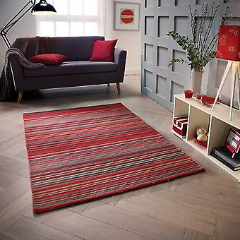 Carter Red  Rectangle Rugs Plain/Nearly Plain Rugs
