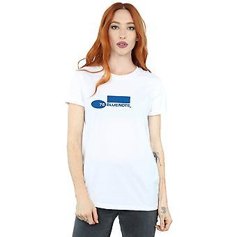 Blue Note Recordsin naisten yksinkertainen Logo poikaystävä Fit t-paita