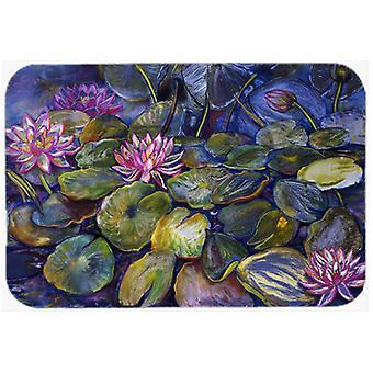 Waterlilies by Neil Drury Glass Cutting Board Large