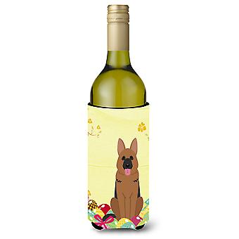 Easter Eggs German Shepherd Wine Bottle Beverge Insulator Hugger