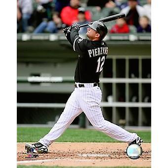 AJ Pierzynski 2008 Batting Action Photo Print